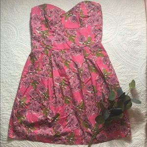 Pink Floral Dress Size M